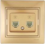 Lezard MIRA розетка ТF двойная Золото 701-1313-138