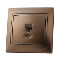 Lezard MIRA розетка ТF Светло-коричневый металлик 701-3131-137