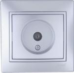 Lezard MIRA розетка ТV оконечная Серебро 701-1010-130