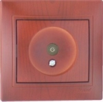 Lezard MIRA розетка ТV оконечная вишня 701-0601-130