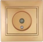 Lezard MIRA розетка ТV оконечная Золото 701-1313-130