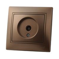 Lezard MIRA розетка ТV проходная Светло-коричневый металлик 701-3131-129