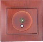Lezard MIRA розетка ТV проходная вишня 701-0601-129