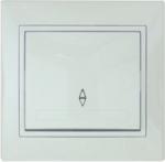 Lezard MIRA выключатель 1 кл. проходной белый 701-0202-105