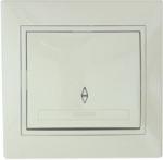 Lezard MIRA выключатель 1 кл. проходной крем 701-0303-105