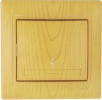 Lezard MIRA выключатель 1 кл. проходной Ольха 701-0701-105