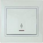 Lezard MIRA выключатель 1 кл. проходной с подс. белый 701-0202-114
