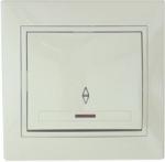 Lezard MIRA выключатель 1 кл. проходной с подс. крем 701-0303-114