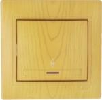Lezard MIRA выключатель 1 кл. проходной с подс. Ольха 701-0701-114