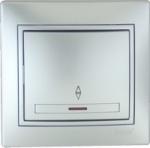 Lezard MIRA выключатель 1 кл. проходной с подс. Серебро 701-1010-114