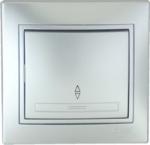 Lezard MIRA выключатель 1 кл. проходной Серебро 701-1010-105