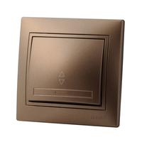 Lezard MIRA выключатель 1 кл. проходной Светло-коричневый металлик 701-3131-105