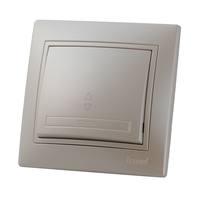 Lezard MIRA выключатель 1 кл. проходной Жемчужно-белый металлик 701-3030-105