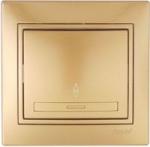 Lezard MIRA выключатель 1 кл. проходной Золото 701-1313-105