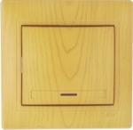 Lezard MIRA выключатель 1 кл. с подс. Ольха 701-0701-111