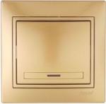 Lezard MIRA выключатель 1 кл. с подс. Золото 701-1313-111