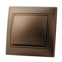Lezard MIRA выключатель 1 кл. Светло-коричневый металлик 701-3131-100