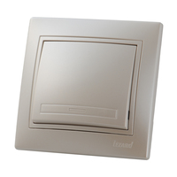 Lezard MIRA выключатель 1 кл. Жемчужно-белый металлик 701-3030-100