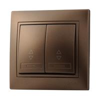 Lezard MIRA выключатель 2 кл. проходной Светло-коричневый металлик 701-3131-106