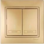 Lezard MIRA выключатель 2 кл. проходной Золото 701-1313-106
