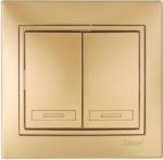 Lezard MIRA выключатель 2 кл. Золото 701-1313-101