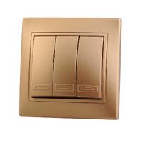 Lezard MIRA выключатель 3 кл. Золото 701-1313-109