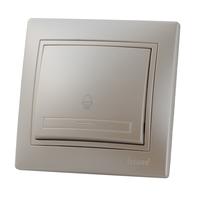 Lezard MIRA кнопка звонка Жемчужно-белый металлик 701-3030-103