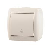 Lezard NATA кнопка звонка белая 710-0200-103