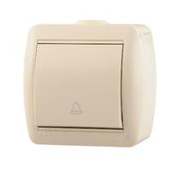 Lezard NATA кнопка звонка крем 710-0300-103