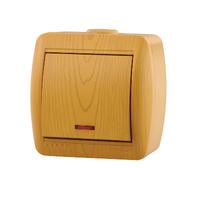 Lezard NATA выключатель 1 кл. с подс. Ольха 710-0700-111