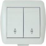 Lezard NATA выключатель 2 кл. проходной белый 710-0200-106