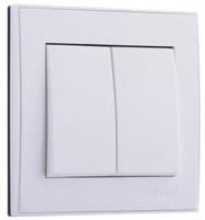 Lezard RAIN Выключатель 2-ой белый 703-0288-101