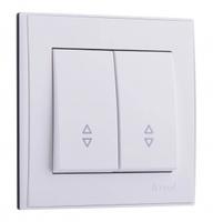 Lezard RAIN Выключатель проходной 2-ой белый 703-0288-106