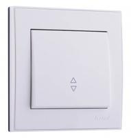 Lezard RAIN Выключатель проходной белый 703-0288-105