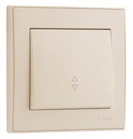 Lezard RAIN Выключатель проходной крем 703-0388-105