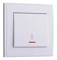 Lezard RAIN Выключатель проходной с подсветкой белый 703-0288-114