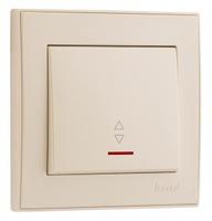 Lezard RAIN Выключатель проходной с подсветкой крем 703-0388-114