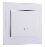 Lezard RAIN Выключатель промежуточный белый 703-0288-107