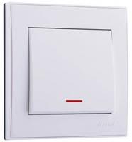 Lezard RAIN Выключатель с подсветкой белый 703-0288-111