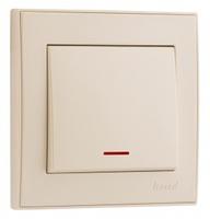 Lezard RAIN Выключатель с подсветкой крем 703-0388-111