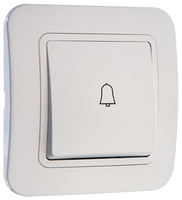 Makel Lillium кнопка звонка белая 71004