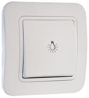 Makel Lillium выключатель 1 кл. проходной белый 71005