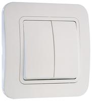 Makel Lillium выключатель 2 кл. белый 71003