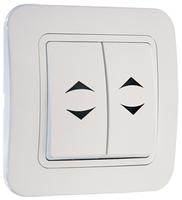 Makel Lillium выключатель 2 кл. проходной белый 71026