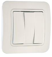 Makel Lillium выключатель 3 кл. белый 71091