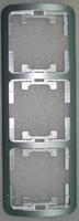 Makel Mimoza рамка 3-я вертикаль серебро 22433