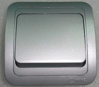 Makel Mimoza выключатель 1кл. проходной серебро 23405