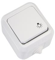 Makel полугерметичный IP44 кнопка звонка белая 18302