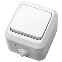 Makel полугерметичный IP44 выключатель 1кл проходной белый 18303