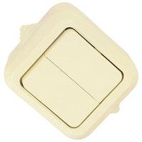 Makel полугерметичный IP44 выключатель 2кл крем 18201